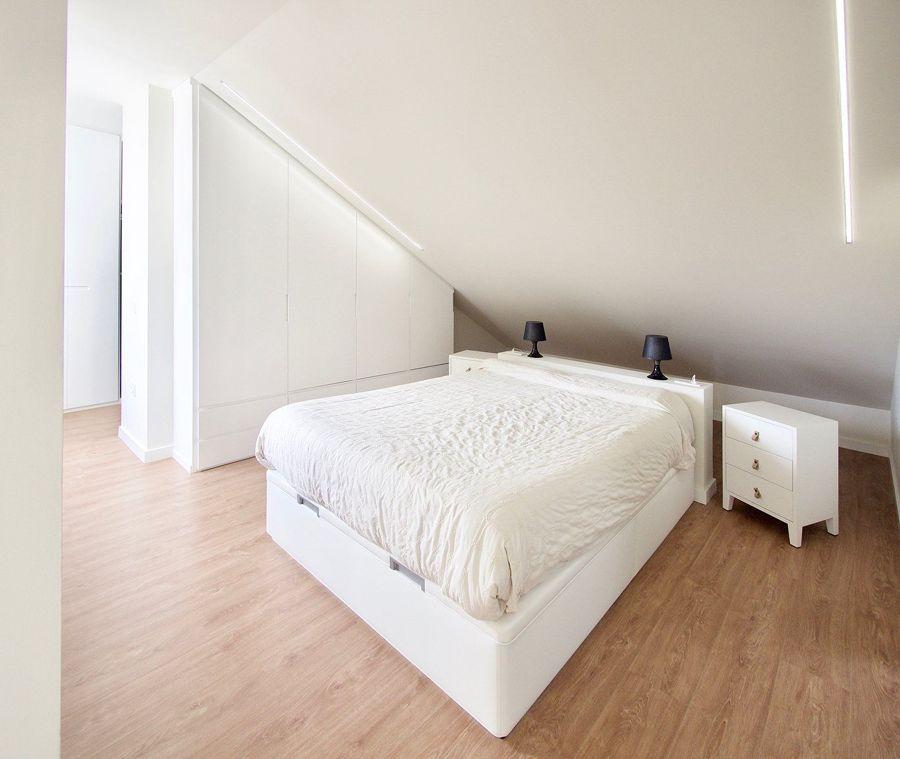 Dormitorio con iluminación led