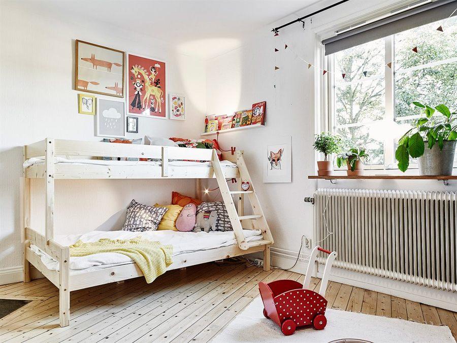Foto dormitorio con literas estilo n rdico de marta - Dormitorios estilo nordico ...