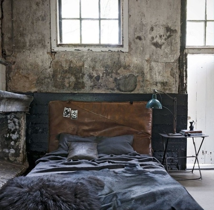 dormitorio con moho