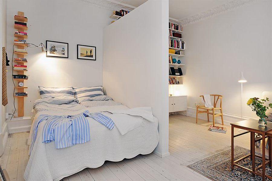 Dormitorio con pared de pladur