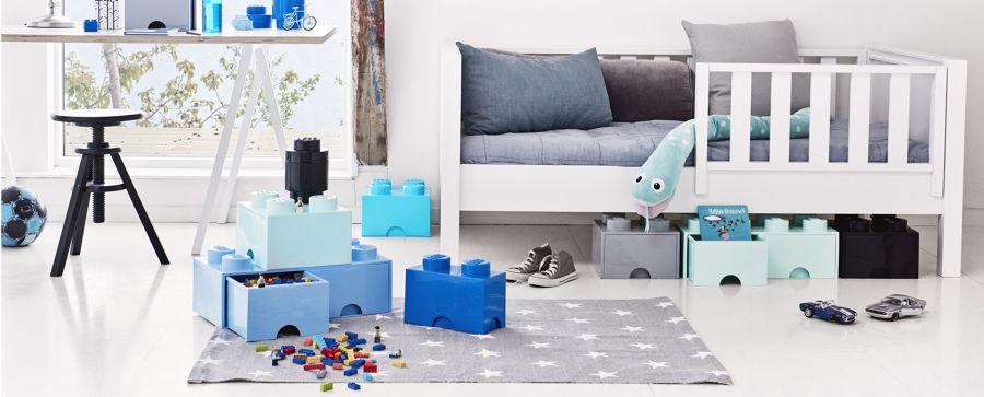 Dormitorio con piezas lego