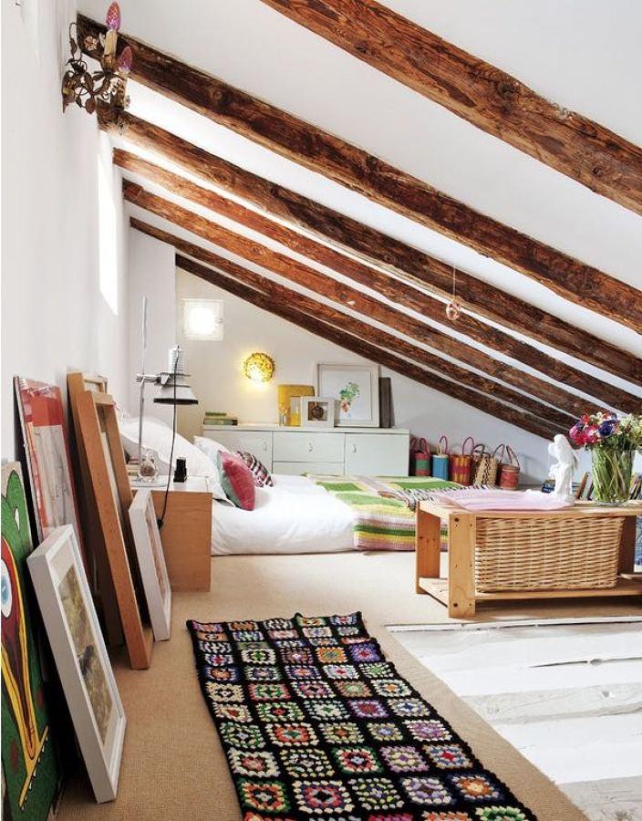 10 pisos peque os que merecen un 10 ideas decoradores - Techo abuhardillado ...
