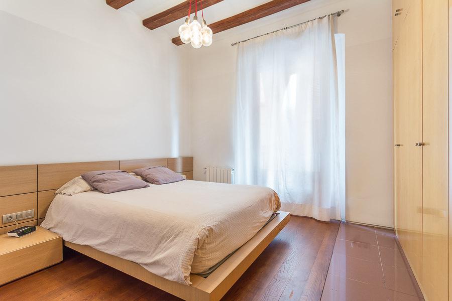 Dormitorio con texturas