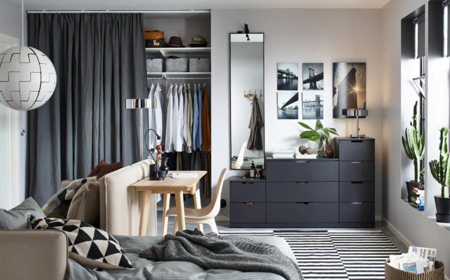 Dormitorio con vestidor de IKEA