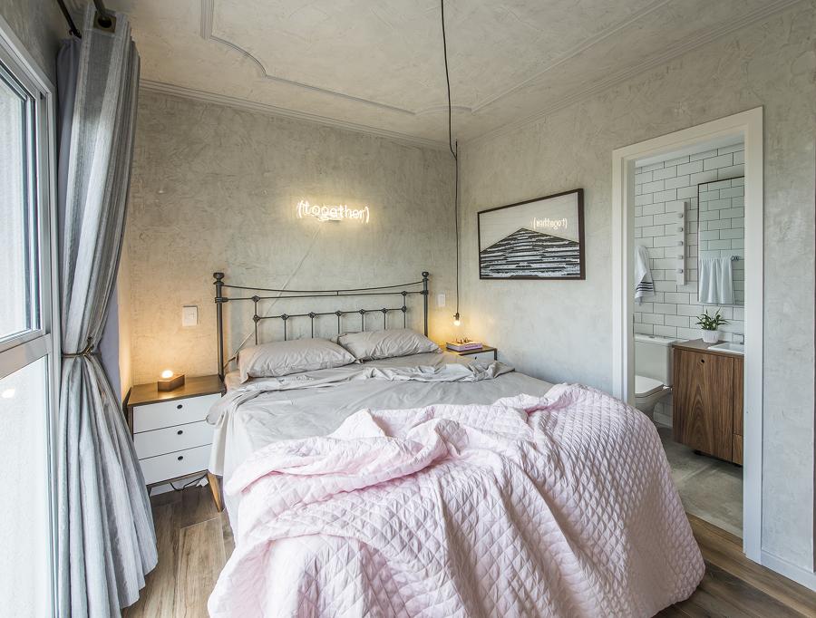 Dormitorio de estilo romántico