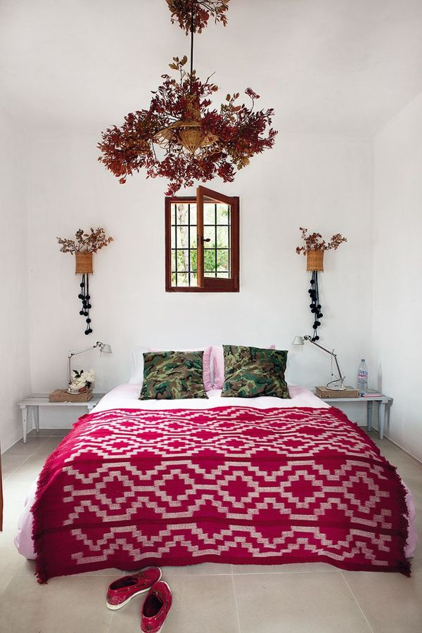 dormitorio de inspiración marroquí