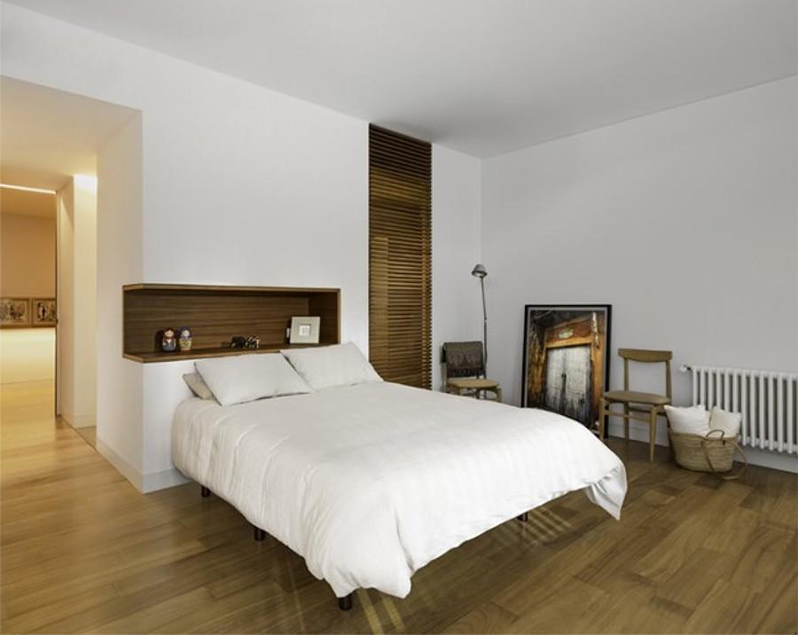 Dormitorio decoración en madera