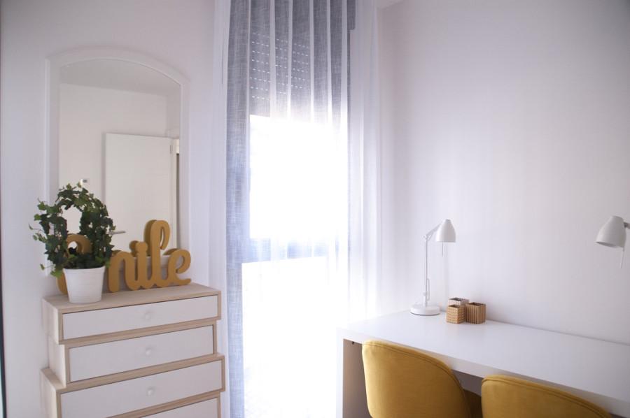 El dormitorio secundario con decoración