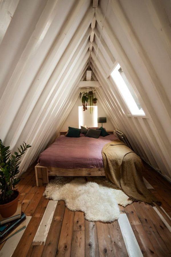 Dormitorio en buhardilla