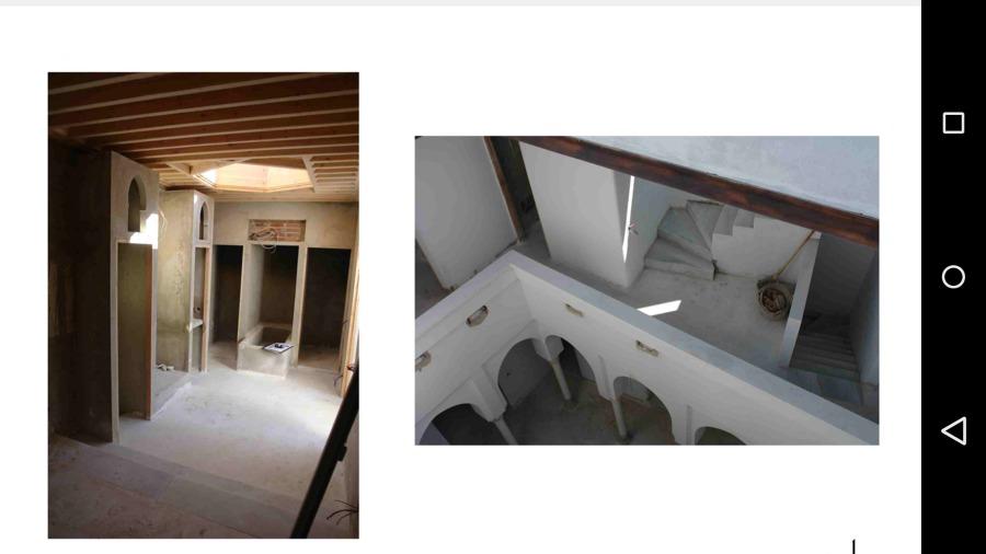dormitorio en construcción y patio 2
