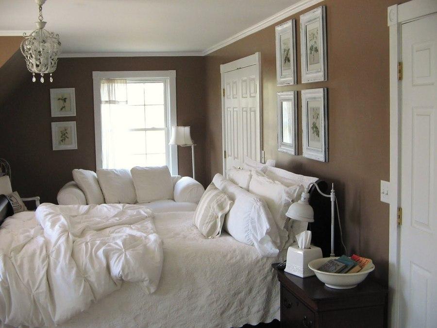 dormitorio en marrón