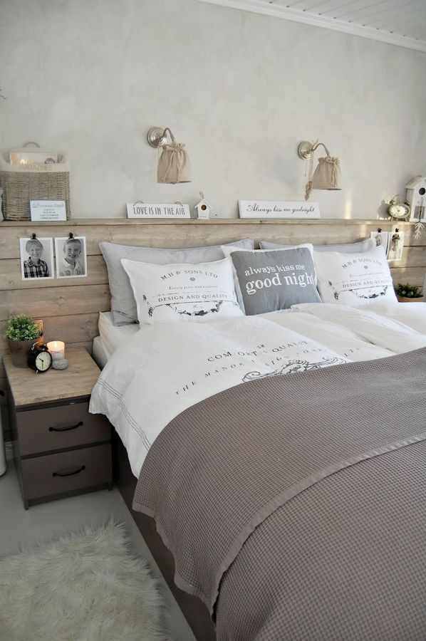 Dormitorio en tonalidades gris