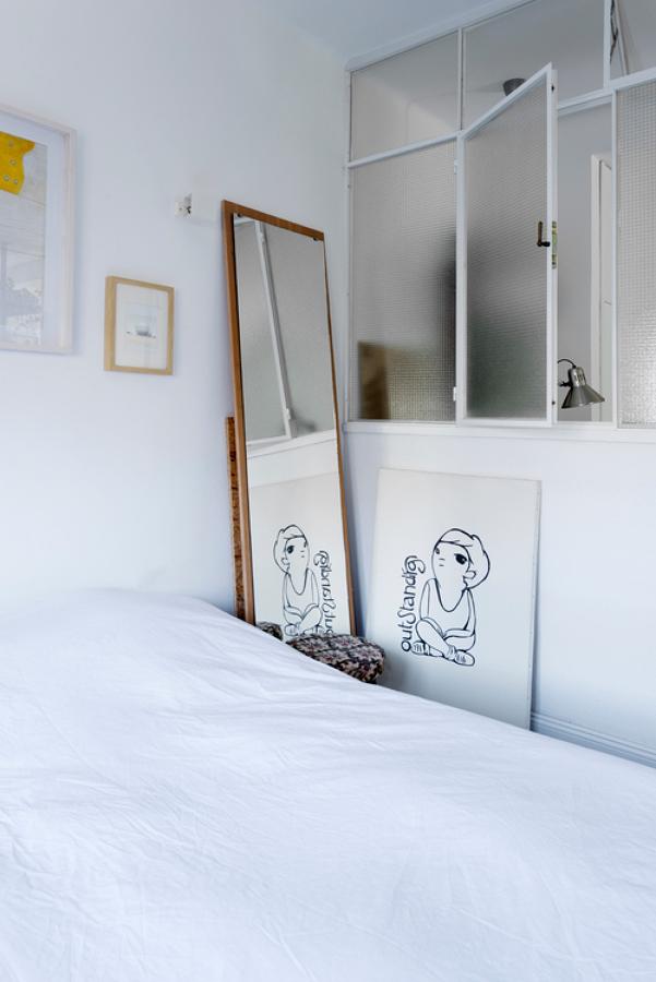 dormitorio en tonos blancos