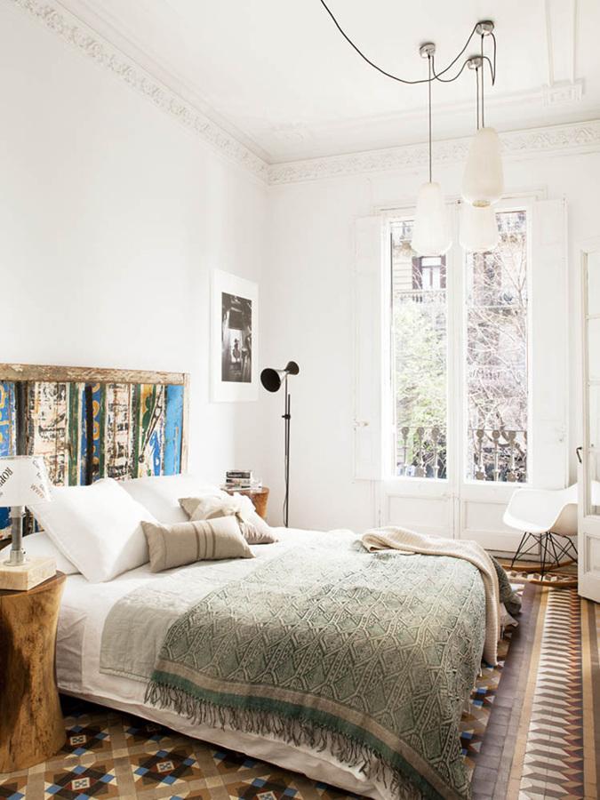 Dormitorio estilo clásico desenfadado