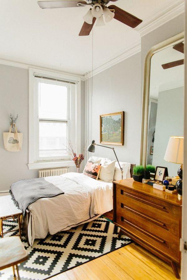 dormitorio fresco con ventilador de techo