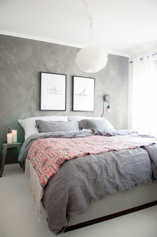 foto dormitorio gris y rosa de miriam mart 1669473