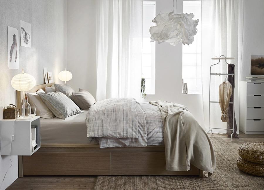 Dormitorio IKEA cama con cajones