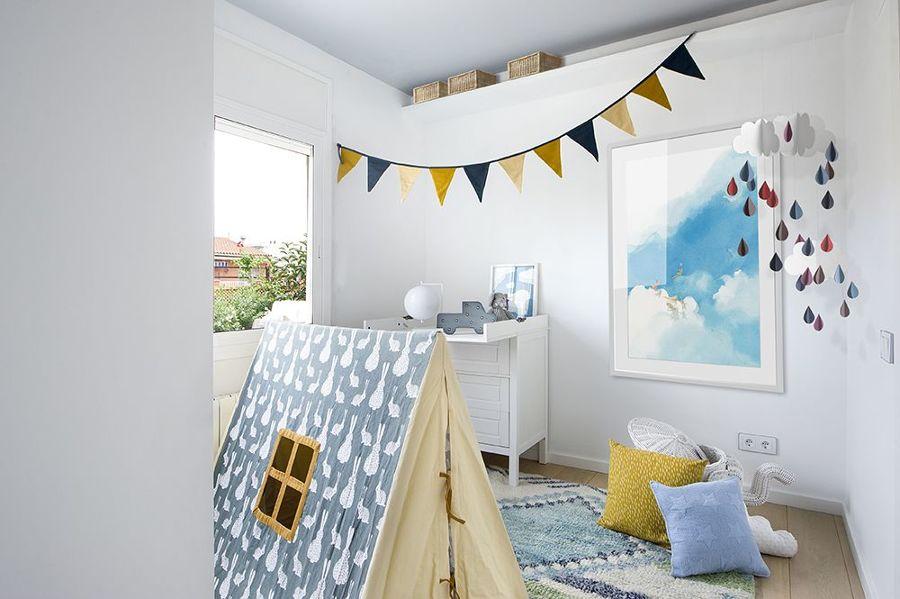 Dormitorio infantil con tipi