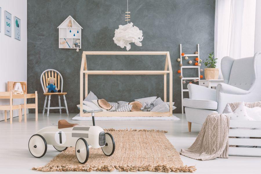Dormitorio infantil de estilo escandinavo