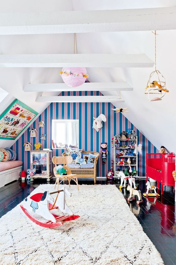 Dormitorio infantil en ático