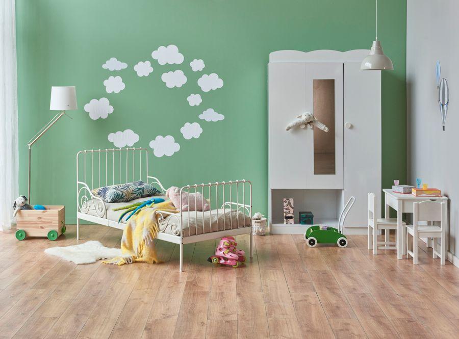 Dormitorio infantil en tono verde