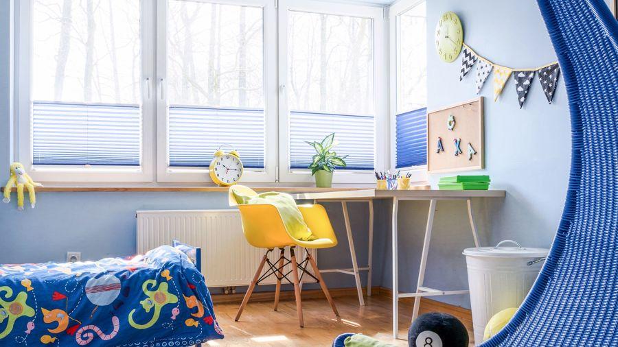 Dormitorio infantil en tonos azules