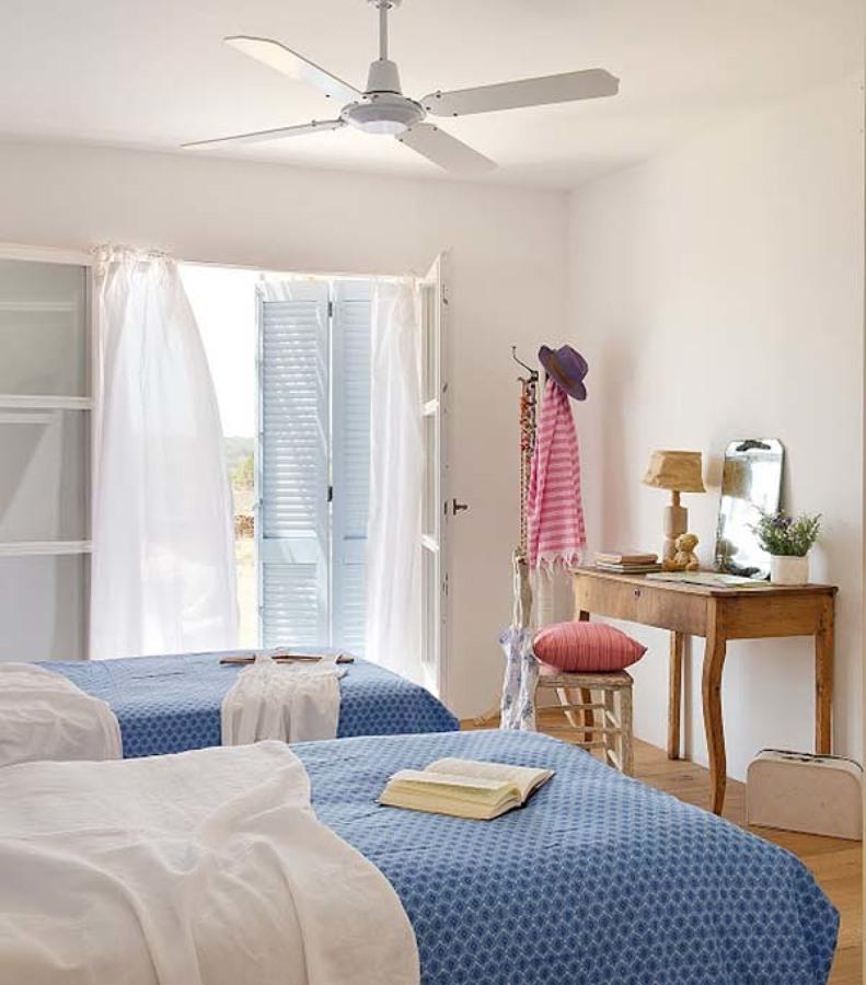 Dormitorio infantil estilo mediterráneo