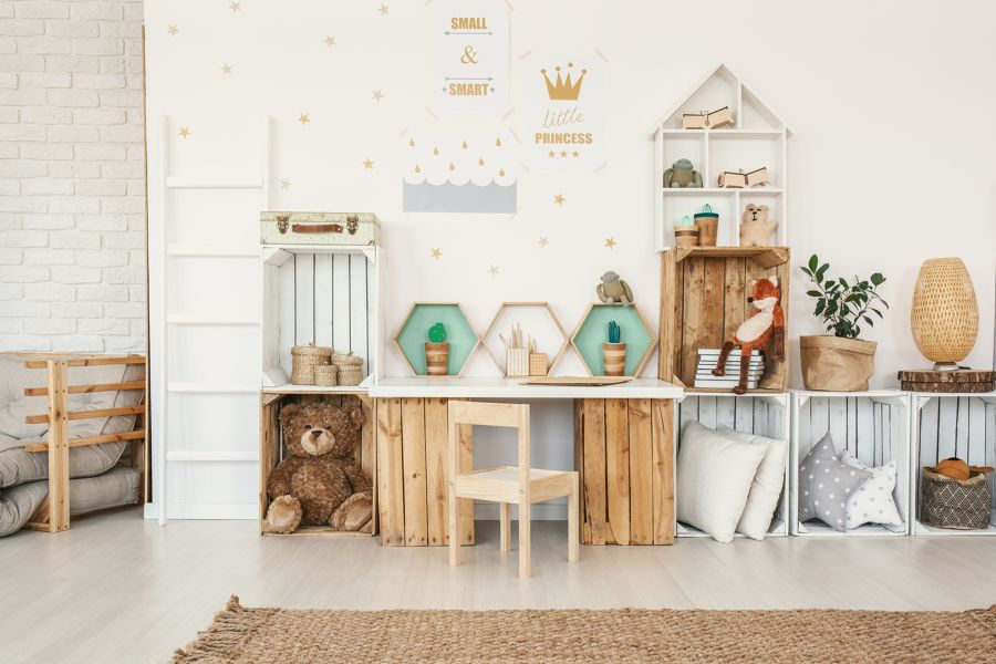 Dormitorio infantil estilo nórdico