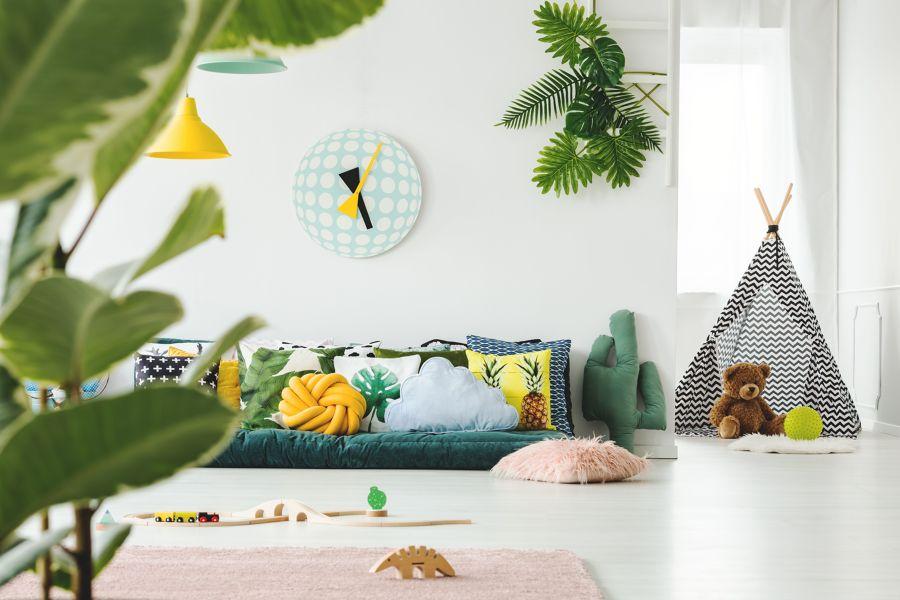Dormitorio infantil tematizado en jungla