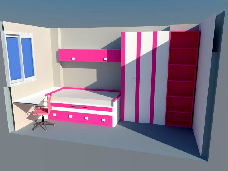 Proyectos de interiorismo ideas muebles for Disenar dormitorio juvenil 3d