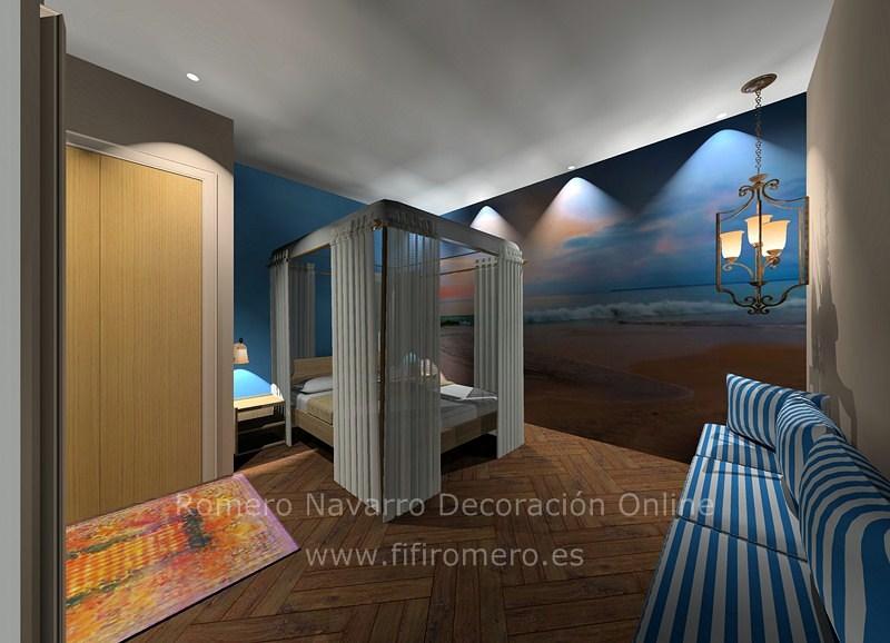 Dormitorio junto al mar