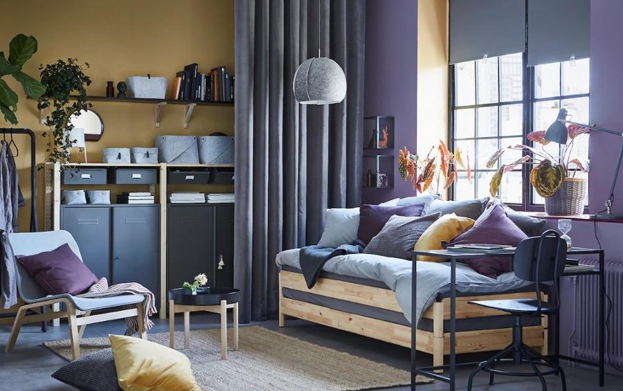 dormitorio juvenil con cama apilable