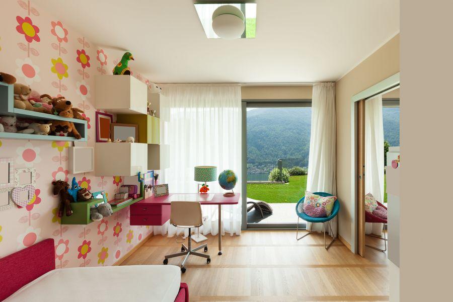 Dormitorio juvenil con espacio de estudio