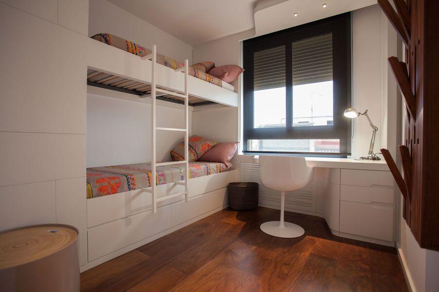 Dormitorio juvenil con zona de estudio