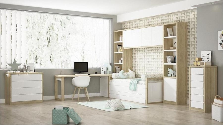 Dormitorio Juvenil Noel Madrid Madera