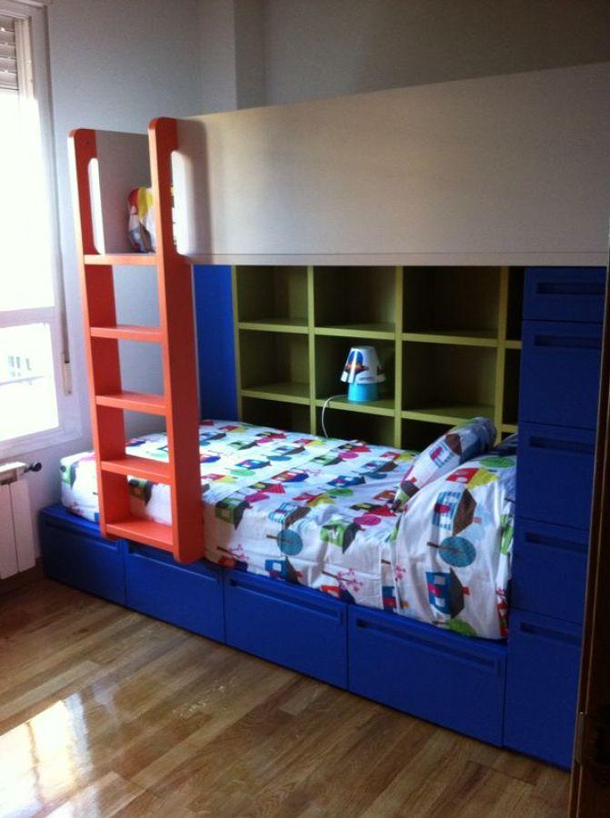 Dormitorio juvenil tipo tren ideas muebles for Dormitorio juvenil tren