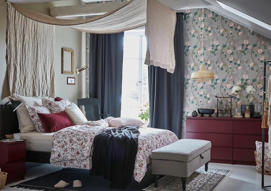 Dormitorio matrimonio con muebles y colchón de IKEA