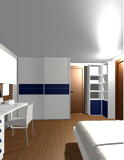 Dormitorio matrimonio + zona estudio 3
