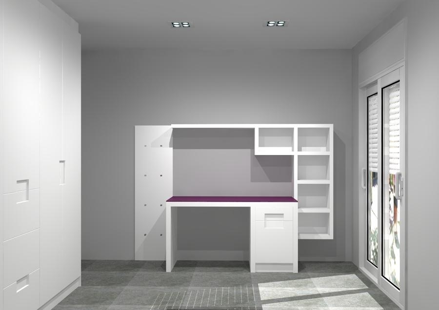 Dormitorio para ni a lacado en blanco ideas decoradores for Dormitorio nina blanco