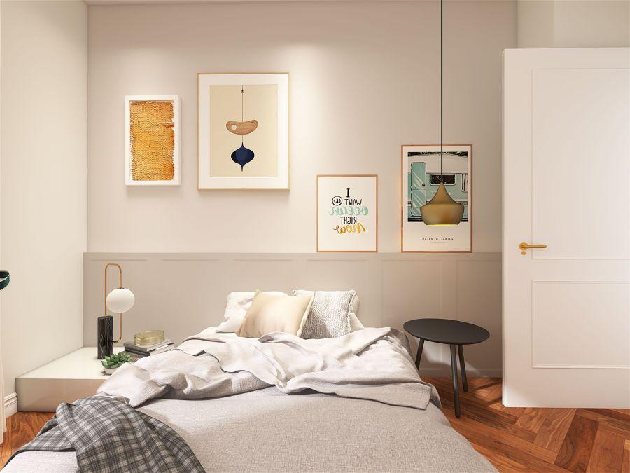 Dormitorio para pareja joven