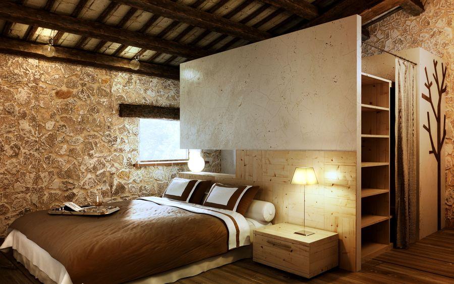 Dormitorio piedra