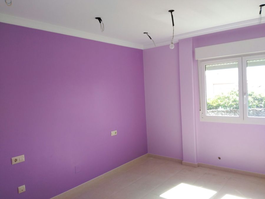 Dormitorio pintura plástica santinada 2 tonalidades