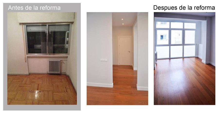 Dormitorio principal antes y despues