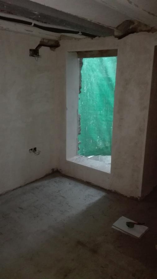 Dormitorio principal durante la obra