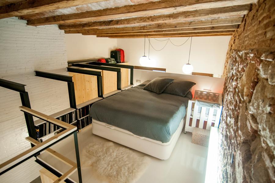 Dormitorio principal sobre altillo