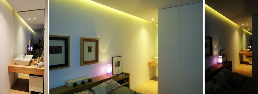 Dormitorio principal y baño