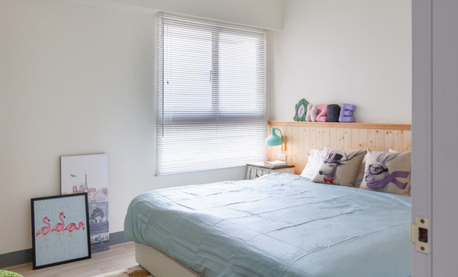 Dormitorio que gana claridad