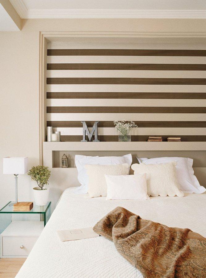 Papel pintado cambia el look de tu dormitorio ideas - Cabecero papel pintado ...