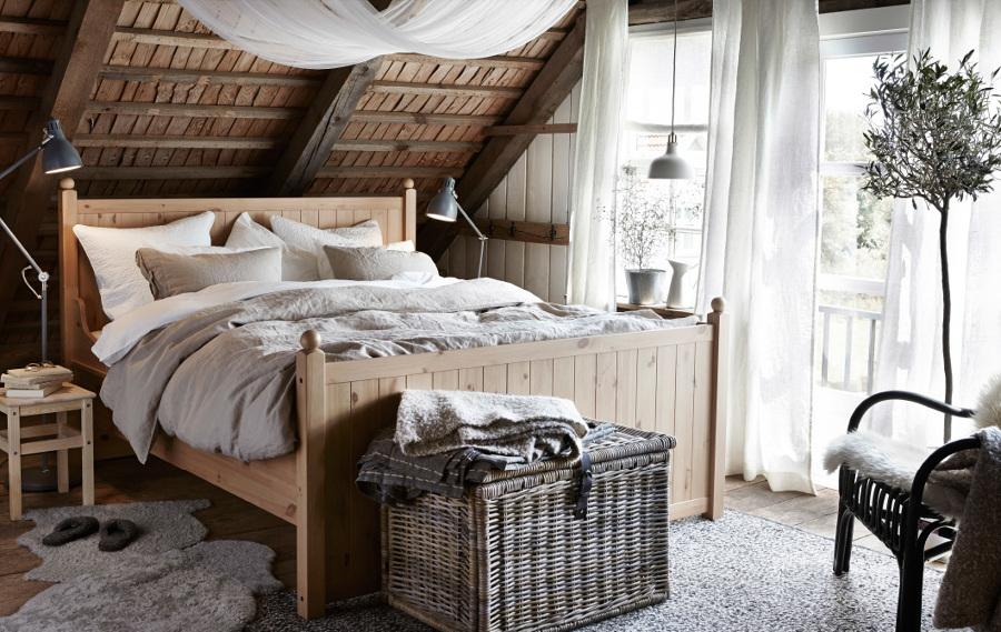 Dormitorio rústico de IKEA