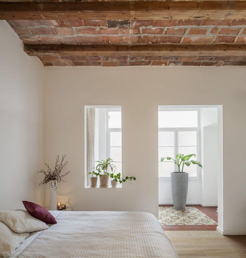 Dormitorio sin puertas